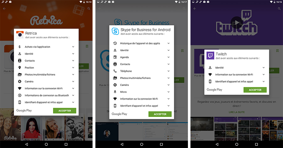 permissions android